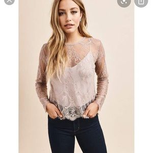 Sm Purple Lace Top from Dynamite